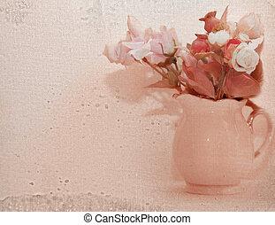 bos van, bloem, in, vase.