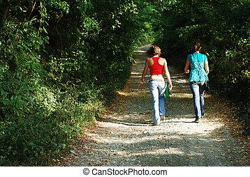 bos, vrouwen
