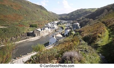 Boscastle town view Cornwall uk - Boscastle North Cornwall...