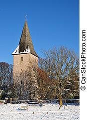 Bosham Church in winter