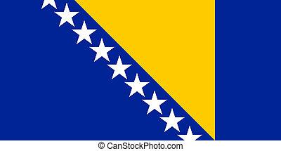 bosnia and herzegovina flag - national flag of bosnia and...