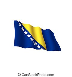 Bosnia and Herzegovina flag, vector illustration on a white...
