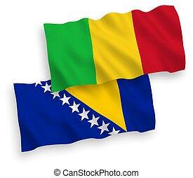 bosnia, malí, banderas, herzegovina, fondo blanco