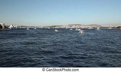 Bosphorus 7 HD 1080p - Sea traffic at the Bosphorus, shoot...