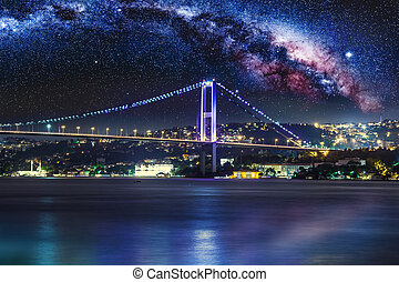 Bosphorus Bridge at night, Istanbul