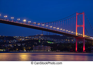 Bosphorus Bridge - Bosporus Bridge at the Istanbul Turkey