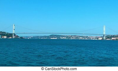 Bosphorus Bridge Building in Turkey Istanbul