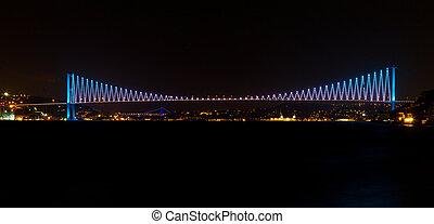 Bosphorus Bridge from Istanbul, Turkey