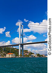 Bosphorus bridge in Istanbul Turkey