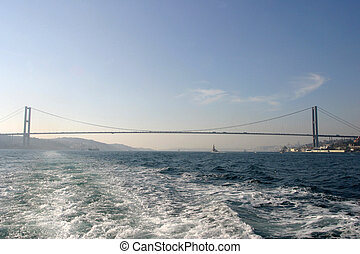 Bosphorus bridge in Istanbul, Turkey