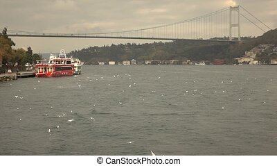 Bosphorus Bridge Turkey Istanbul - view of the Bosphorus...