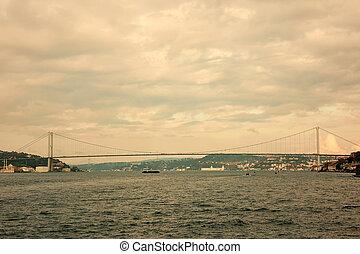 Bosphorus, Rumelian Castle and Fatih Sultan Mehmet Bridge...