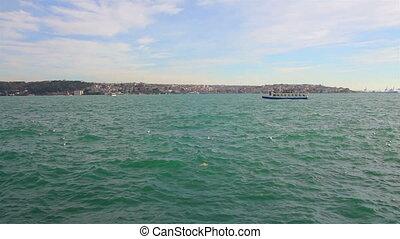 Bosphorus Strait in Istanbul Turkey