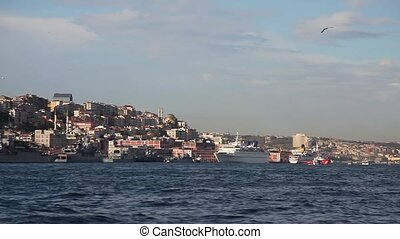 bosphorus with sea traffic 2