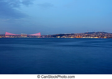 Bosporus Bridge at night Istanbul,  Turkey