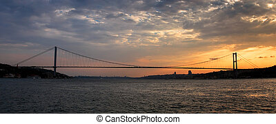 Bosporus bridge at Sunset
