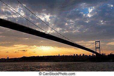 Bosporus bridge at Sunset