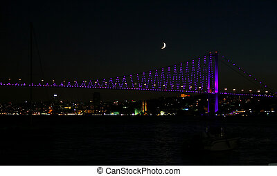 Bosporus Bridge - Bosporus Bridge in night