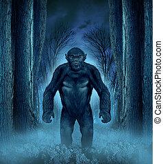 bosque, monstruo