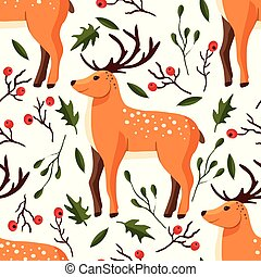 bosque, pattern., seamless, vetorial
