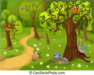 bosque, plano de fondo