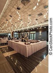 bosque, restaurante, hotel, -, tabla