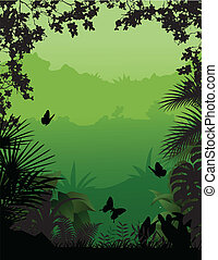 bosque tropical, plano de fondo