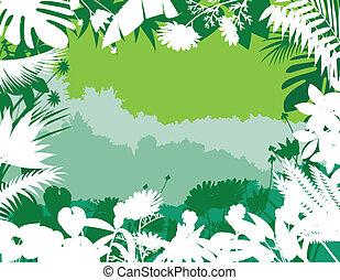 bosque tropical, plano de fondo