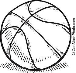 bosquejo, baloncesto
