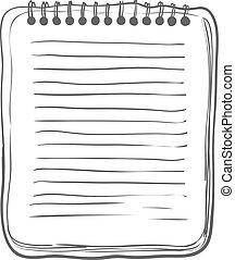 bosquejo, cuaderno