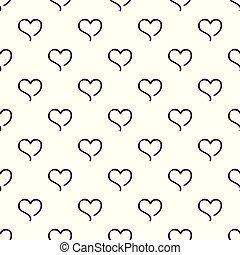 bosquejo, patrón del corazón, seamless, vector