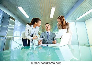 Boss and secretaries