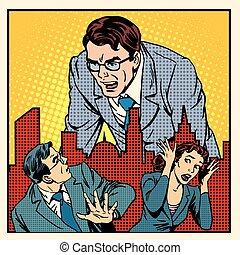 boss anger work office business concept