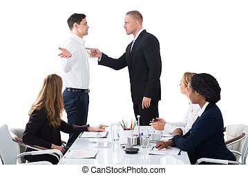Boss Blaming Male Executive In Meeting - Boss Shouting On...