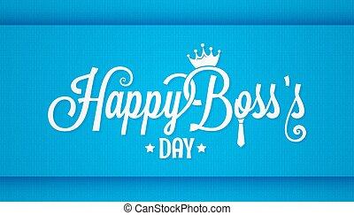 boss day logo vintage lettering design background