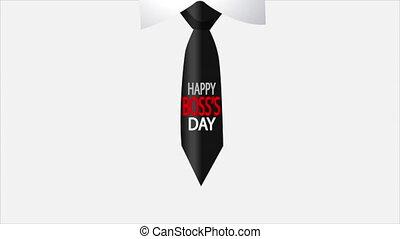 boss day tie - Boss day tie, art video illustration.