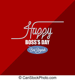 boss day vintage background