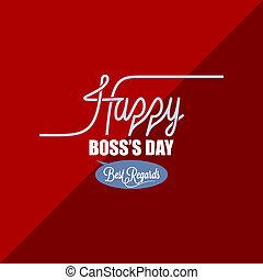 boss day vintage background - boss day vintage celebration...