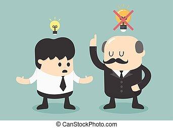 Boss dislike the ideas
