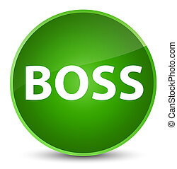 Boss elegant green round button