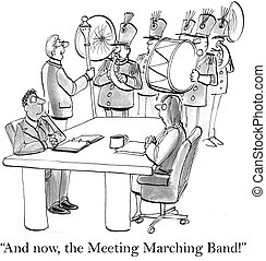"""Boss gets workers pumped up with band - """"And now, the..."""