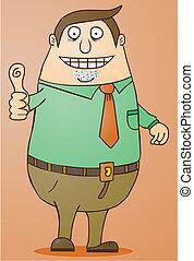 Boss-Good Job - boss giving his thumb up