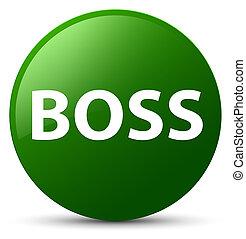 Boss green round button