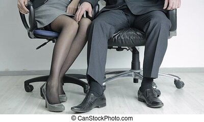 boss is sexually harassing to her sexy secretary. Office ...