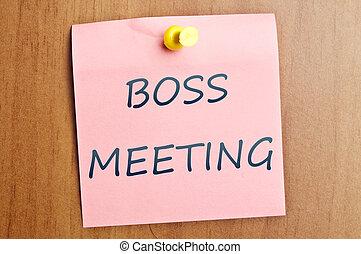 Boss meeting