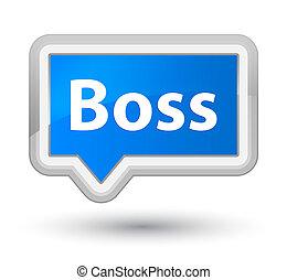 Boss prime cyan blue banner button