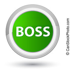 Boss prime green round button