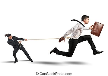 Boss retains employees - Boss tries to strongly retain his...