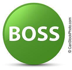 Boss soft green round button