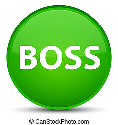 Boss special green round button